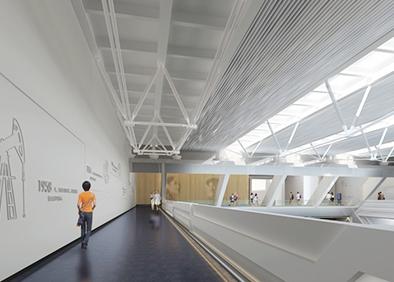 克拉玛依科博馆布展及装饰工程环廊角度二