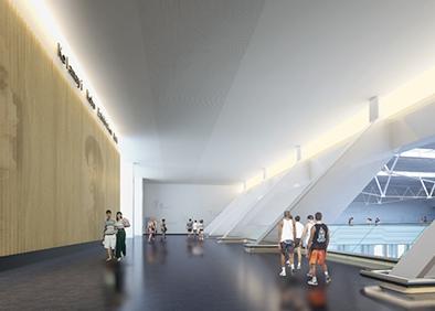 克拉玛依科博馆布展及装饰工程环廊角度一