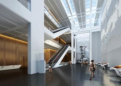 克拉玛依科博馆布展及装饰工程科技馆序厅角度一