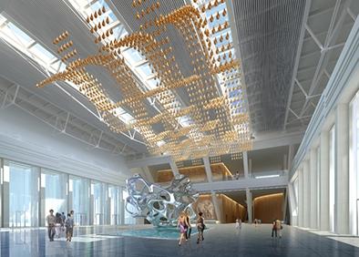 克拉玛依科博馆布展及装饰工程序厅角度二