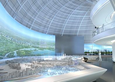 漯河城乡规划展览馆布展及装饰工程一层-沙盘区域副本